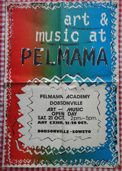 Poster of an exhibition held at Pelmama Academy Soweto in October, 1989