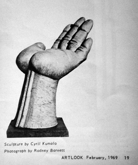 "Cyril KUMALO - ARTLOOK 27, Johannesburg, 1969 (February), p.19 (""On sculpture by Chris Bell"", ill.)"