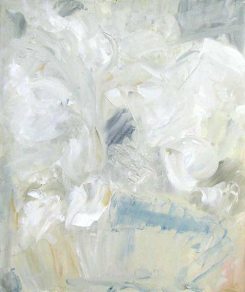 "Heidi HERZOG ""Arum lilies"", 1964 - oil on canvas - 60 x 50cm (Coll. William Humphreys Art Gallery, Kimberley)"