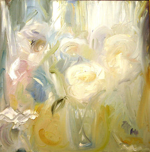 "Heidi HERZOG ""Still life of flowers in a vase"", 1964 - oil on canvas - 60 x 60cm"