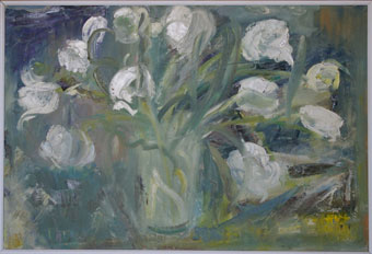 "Heidi HERZOG ""Fleurs hollandaises"", August 1966 - oil on canvas - 62 x 91.5cm"