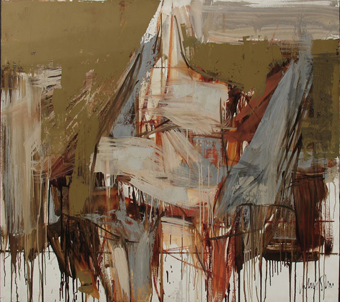 "Julius SHER ""Abstract"", 1961 oil/board - 91.5x101.5 cm - SANLAM Art Collection, Bellville (img. SANLAM)"