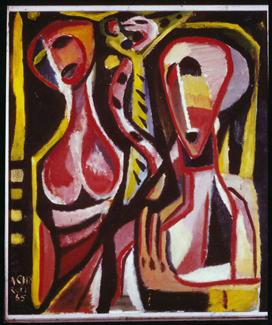 "Albert Chr. Reck Cat. 12 ""Adam + Eve"", 1965 - oil/canvas - 70x60 cm"