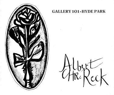 Albert Chr. Reck - cover of invitation card to the 1970 exhibition at Gallery 101, Hyde Park Corner, Johannesburg