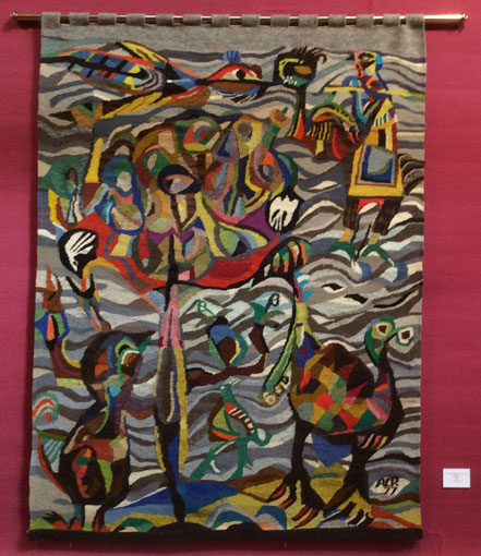 "Albert Chr. Reck ""Bird Sanctuary"", 1977 - tapestry - 206.8x151.5 cm - img. Collection Johannesburg Art Gallery"